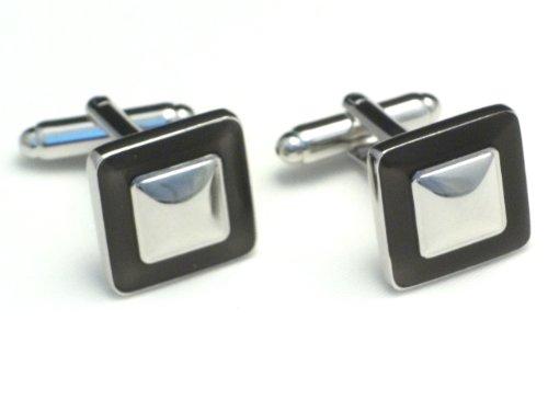 Boutons de manchette - Double carré