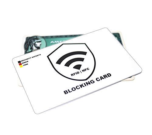 Tarjeta bloqueadora RFID y NFC (1x) - Interruptores - Una tarjeta protege a toda la billetera del robo de datos - Nunca más carcasas de protección RFID para tarjetas de crédito, débito, identidad, pas