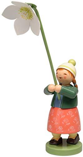 Wendt und Kühn 5248/25 Mädchen mit Christrose - Holz - Höhe 13 cm