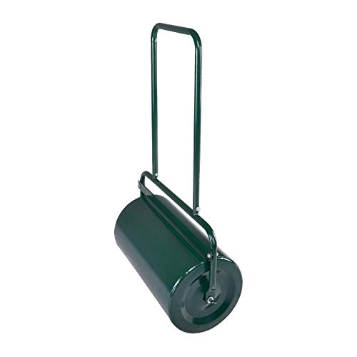 Kapler Lawn Roller Tow Behind Water Filled Push Pull Roller for Garden 48L