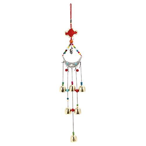 Euphony Chimeneas de viento de cobre 6 campanas al aire libre, decoración de jardín