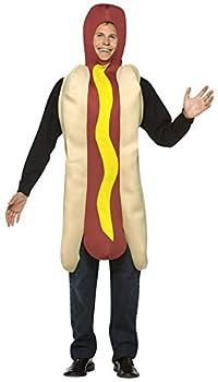 Rasta Imposta Lightweight Hot Dog Costume Multi-Colored One Size