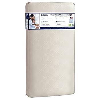 "Kolcraft Pure Sleep Therapeutic 150 Waterproof Toddler & Baby Crib Mattress - 150 Extra Firm Coils 51.7"" x 27.3  Crib"