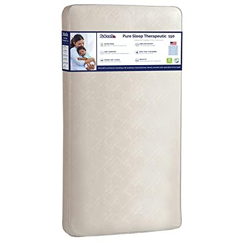 "Kolcraft Pure Sleep Therapeutic 150 Waterproof Toddler & Baby Crib Mattress - 150 Extra Firm Coils, 51.7"" x 27.3"" Crib"
