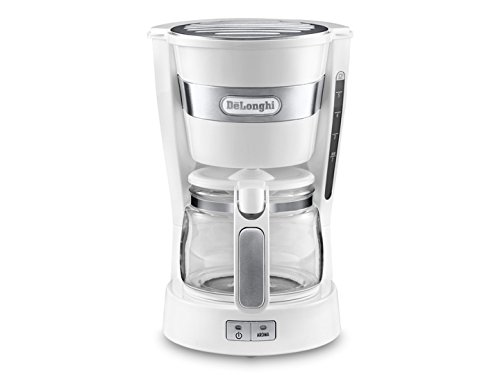De'Longhi Active Line Drip Filter Coffee Machine, Stainless Steel, Keep warm & anti-drip function, 0.65 Litres, ICM14011.W, White