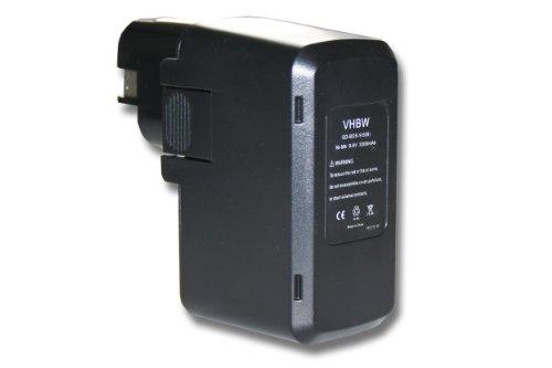 vhbw Batería recargable compatible con Bosch GDR 90, GLI 9.6V, GSB 9.6VES, GSB 9.6VES-2, GSR 9.6-1 herramientas eléctricas (3300 mAh NiMH 9,6 V)