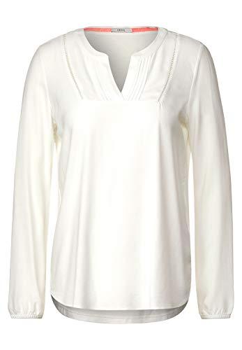 Cecil Damen Bluse mit Lochstickerei Light Alabaster beige XL