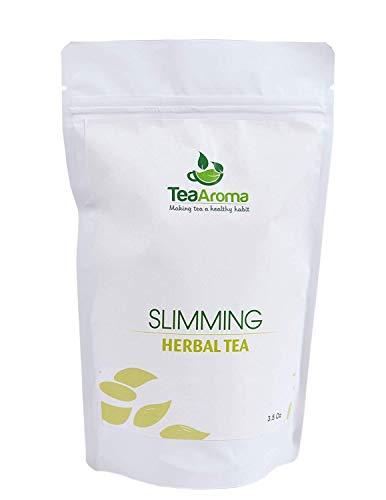 Tea Aroma - Slimming Herbal Tea | Weight Loss Green Tea |Garcinia Cambogia| Senna Leaves| 100% Organic | 18 Natural Herbs (100g)