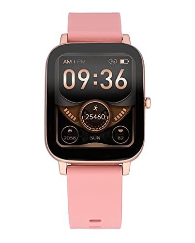 Reloj Smart de Radiant. Colección Palm Beach. Reloj con Correa de Silicona Rosa y Caja en Oro Rosa. 35,6mm de Ancho. IP67. Referencia RAS10303.