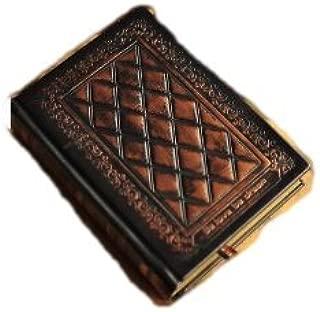アンティーク調 ヨーロッパの 古い洋書のような 重厚で趣のある 立体浮彫 硬表紙ノート ブラウン