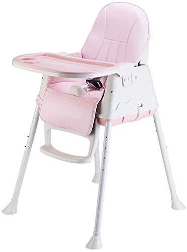 ZHANG Silla de Comedor para Bebés La Trona Convertible Plegable Se Convierte en Un Asiento Elevador de Comedor Mesa para Niños y Más,Pink