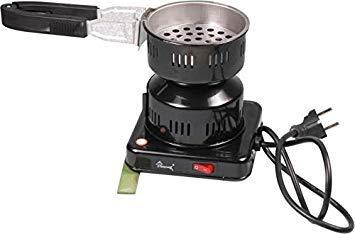 Shark Carbón Cigarrillos eléctrica 500W Carbón Grabadora Shisha con móvil Carbón Cesta...