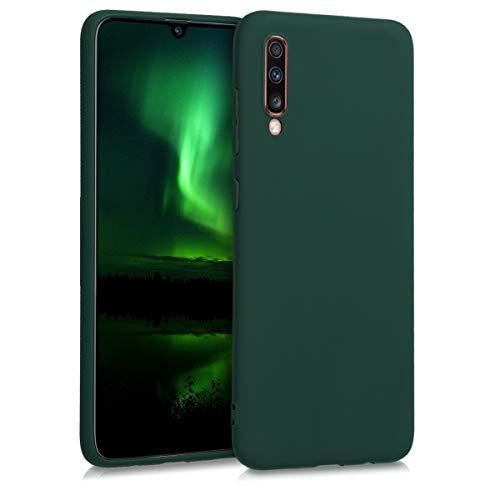 kwmobile Samsung Galaxy A70 Cover - Custodia per Samsung Galaxy A70 in Silicone TPU - Backcover Protezione Verde Muschio