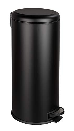 WENKO Papelera para cosméticos (30 L), color negro