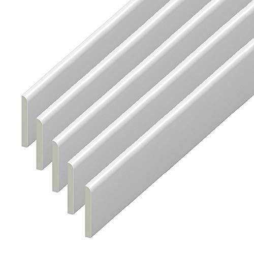 Borde de plástico de UPVC – rodapié blanco y arquitrabe para remate de ventana