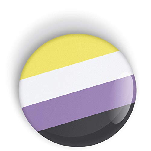 Non-Binary Pride Flag Orgoglio Non Binario perno o calamita da frigo LGBT LGBTQ LGBTQI LGBTQIA