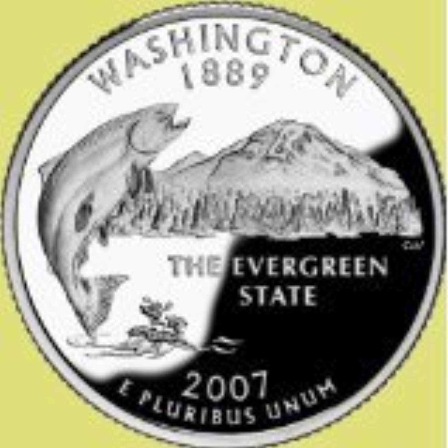 2007  P Washington State Quarter by Mint