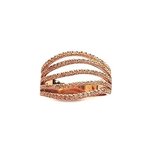Anello Da Donna In Oro Rosa 18kt 750/1000 Con Diamanti 0.75 Ct Gianni Carità, 9