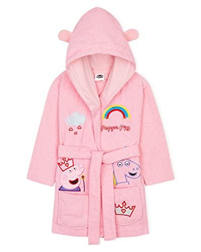 Peppa Pig Albornoz Niña 100% Algodón, Albornoz Bebe y Niña de 18 Meses a 6 Años, Regalos para Niñas (Rosa, 2-3 Años)