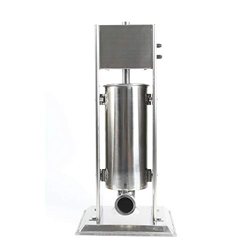 Eapmic Commercial Churro Machine Hand Crank Stainless Steel Professional Churro Maker with 4 Nozzles Home 5L Vertical Type Manual Spanish Donuts Churro Filler Machine for Restaurants Cafeterias Bakeries
