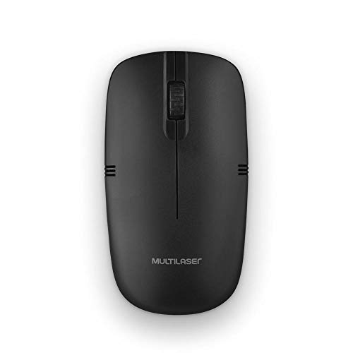 Multilaser MO285, Mouse Sem Fio 2.4GHZ USB Preto