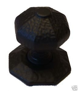 Large Rustic Centre Door Knob,Handle Black Cast Iron