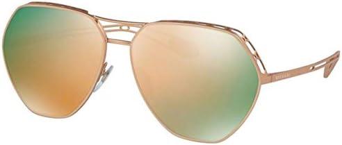 Bvlgari Women s BV6098 Sunglasses Matte Pink Gold Grey Mirror Rose Gold 61mm product image