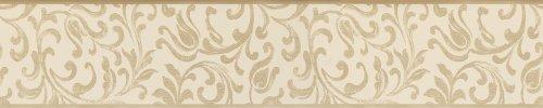 A.S. Création cenefa autoadhesivo Stick Ups beige crema 5,00 m x 0,10 m 905529