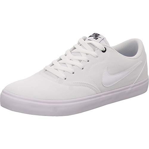 Nike Herren Sb Check Solar CNVS Fitnessschuhe, Weiß White White Black 001, 45 EU