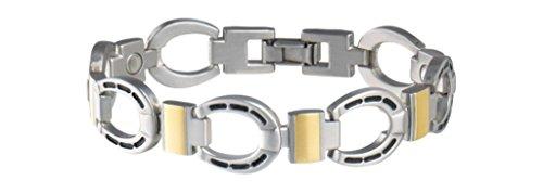 Sabona Men's Horseshoe Magnetic Bracelet Silver Large