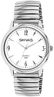 5c8371a16a Montre Shivas Homme Quartz Argente en Acier Inoxydable | Cadran Blanc |  A18845-201