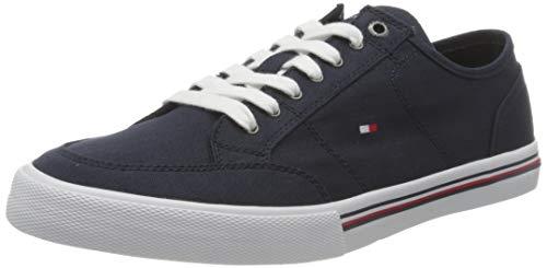 Tommy Hilfiger Core Corporate Textile Sneaker, Zapatillas Hombre, Azul (Cielo del Desierto), 43 EU