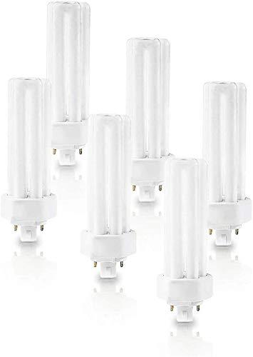 (6 Pack) PLT-42W 841, 4 Pin GX24Q-4, 42 Watt Triple Tube, Compact Fluorescent Light Bulb