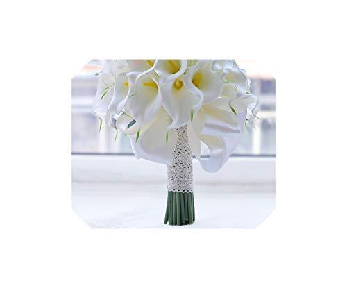 Wasserfall-rote Blumen-Brautsträuße Kunstperlen Kristall Hochzeit Bouquets, weiße Calla-Lilie