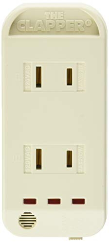 The Clapper, Wireless Sound Activated On/Off Light Switch, Clap Detection, Perfect for Kitchen/Bedroom/TV/Appliances, 120 V Wall Plug, Smart Home Technology, As Seen On TV Household Gift