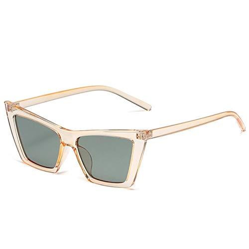 TYOLOMZ Gafas de Sol para Mujer Gafas de Sol cuadradas con Personalidad Street Beat Mujeres Hombres Gafas de Viaje al Aire Libre Sombras para Dama