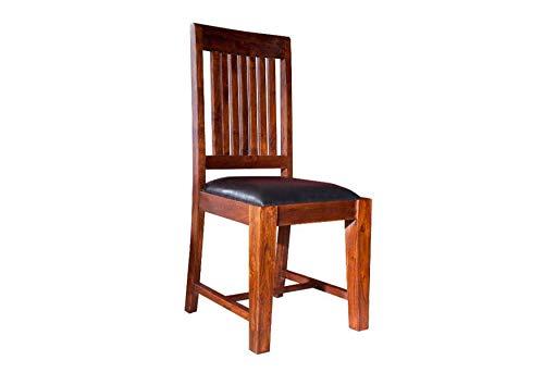 MASSIVMOEBEL24.DE Stuhl Akazie 45x50x100 Nougat lackiert Oxford #15