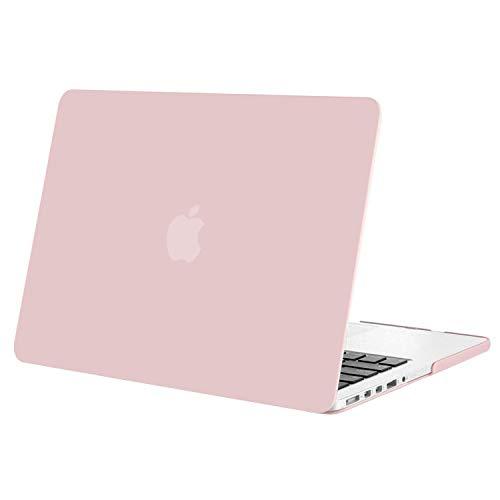 MOSISO Hülle Kompatibel mit MacBook Pro Retina 13 - Plastik Hartschale Hülle Kompatibel mit Ältere Version MacBook Pro Retina 13 Zoll (Modell: A1502 & A1425) (Release 2015 - Ende 2012), Rosenquarz