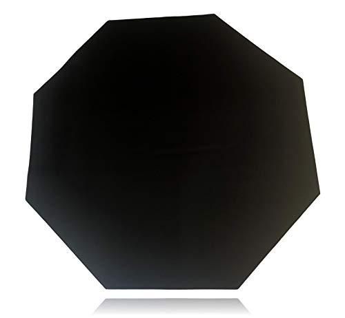 Floor Mat Gaming Chair Pad - Anti Slip Rubber Base - Stitched Edges - Large Floor Mat - 48  x 48  x 0.12  (Floor Mat, All Black No Logo)