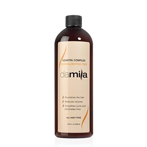 Damila Keratin Complex Hair Treatment - Smoothing, Straightening, Anti-Frizz Formaldehyde Free Keratin Home Treatment, 16.9 oz.