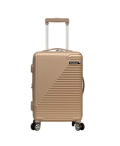 Rockland Star Trail Hardside Spinner Wheel Luggage, Champagne