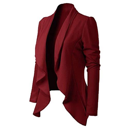 JURTEE Giacca Coprispalle e Blazer Casual Cappotto per Primavera Manica Lunga Eleganti Coprispalle Elegante Donna Cerimonia Cardigan Donna Elegante Giacche