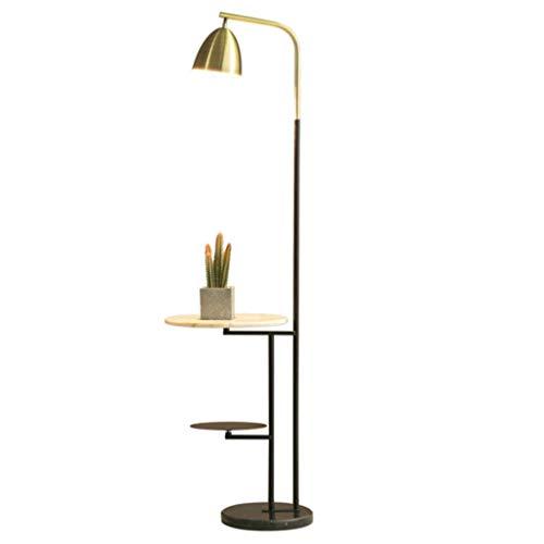 Lámparas de Pie Lámpara de Piso Luz de Pie 62' interruptor de la lámpara de piso con estante nórdica blanca Mesa Negro estante ajustable lámpara de la cabeza giratoria de la base del pie Lámpara están