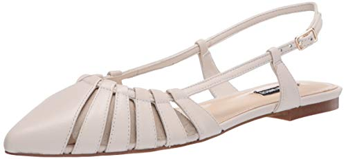 NINE WEST womens Ballet Flat, Ivory, 7 US