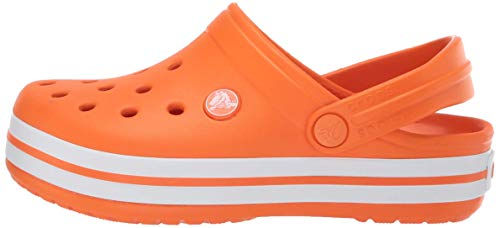 crocs Unisex-Kinder Crocband K Clogs, Orange, 27/28 EU