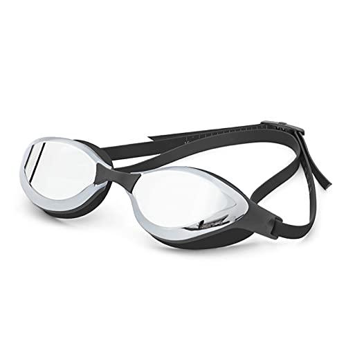 XUEXIU Gafas De Natación Anti-Niebla Claras A Prueba De Agua Clear Anti-Niebla Anti-Mujeres Anti-Mujeres Gafas De Natación con Estuche (Color : 10Mirror BK Silver)