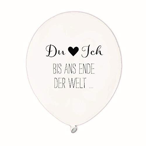Luftballons - Hochzeit - Party - Du & Ich - Latex Ballons