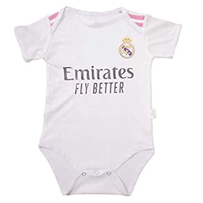 Petersocks Real Madrid Club Cotton Bobysuit Onesie Baby Suit for Romper Infant & Toddler 0-9 Month