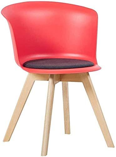 LAMTON Silla de Comedor, Casual Inicio Lazy Respaldo Silla, Silla de la computadora de Oficina, Franela del Amortiguador, Impermeable, Lavable (Color : Rojo)