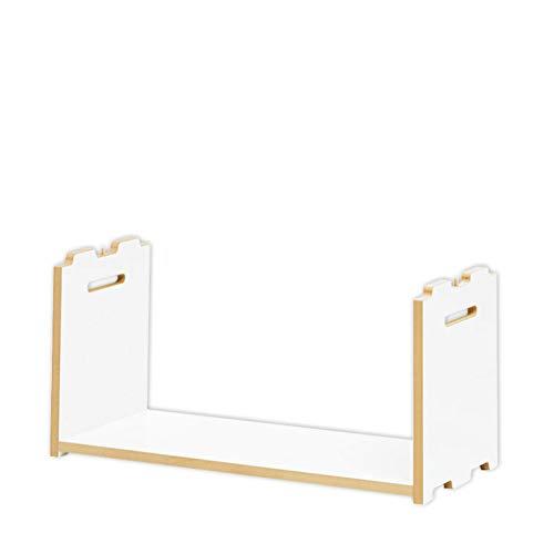 Tojo Hochstapler | Erweiterungsmodul für modulares Regalsystem | Weiß | Anbaumodul für EIN...